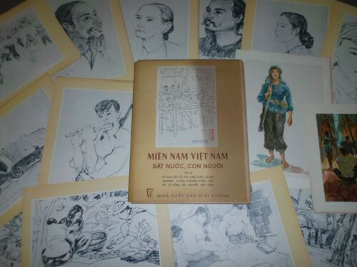 VIETNAM WAR PAINTING SKETCHES lll VINTAGE 1967 SOUTH VIETNAMESE ARTISTS PICTURE