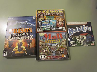 Tycoon Lot 7 Pc Software Cd Rom Windows Complete Mall Prison Coffee Marine
