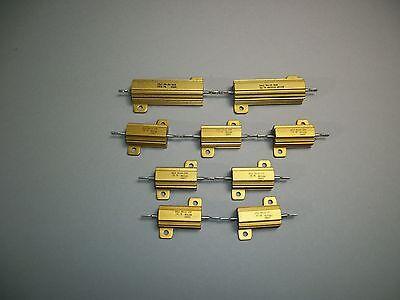 Dale Resistors Mixed Lot Of 9 Rh-50 3 Ohm Nh-50 150 Ohm Rh-25 .1 Ohm- New