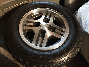 Mint condition 1985 Mazda RX7 wheels and tires