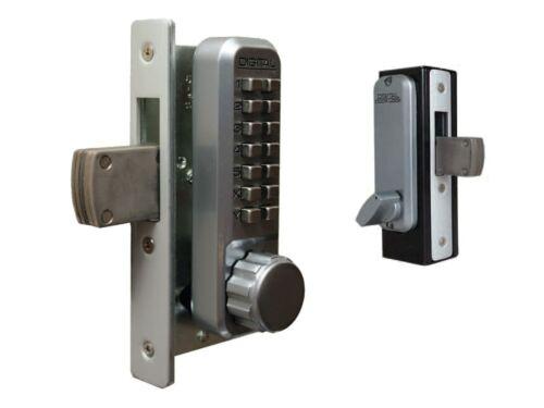 Lockey 2900-SC Mechanical Keyless Narrow Stile Deadbolt, Single, Satin Chrome