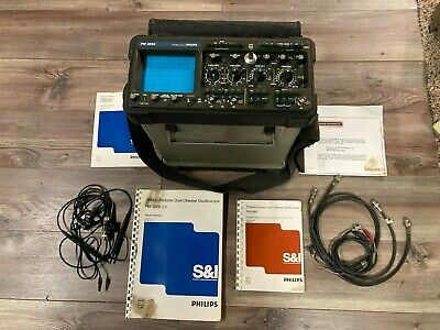 Philips Portable Dual Channel Oscilloscope With Manuals Pm3256