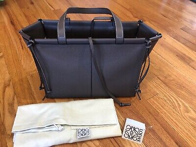 NWT $1850 LOEWE Small Cushion Tote Bag Dark Tope Purse Handbag Brown New