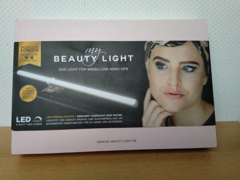 MY BEAUTY LIGHT LED-SPIEGELLEUCHTE FÜR MAKELLOSE MAKE-UPS (6500 KELVIN) neu OVP