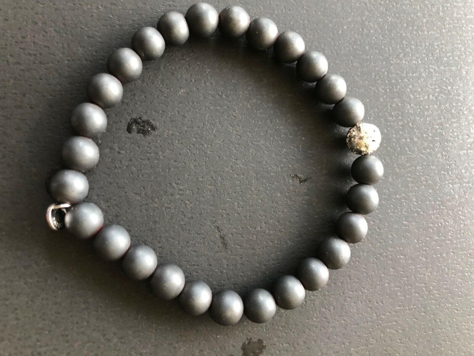 Tateossian Gray Bead Bracelet - $105.00