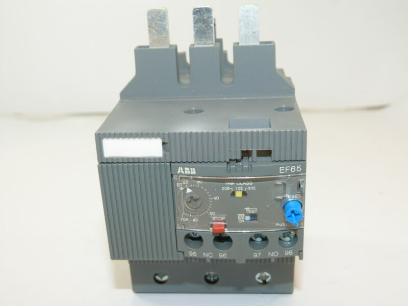 ABB EF65-70 Electronic Overload Relay 25-70A NEW 1yr Warranty