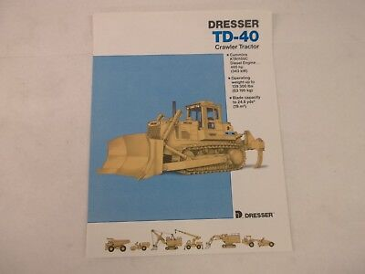 Dresser Td40 Crawler Tractor Brochure Dozer Dresta