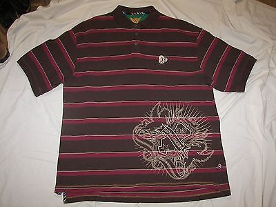 Gino Green Global  Mens Stripe Rugby Polo Shirt   Size 3Xl