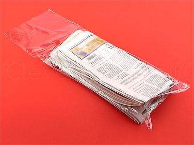 100 Pack - 7.5x21 Clear Newspaper Bags - 0.65 Mil - Heavy Duty Plastic Bag