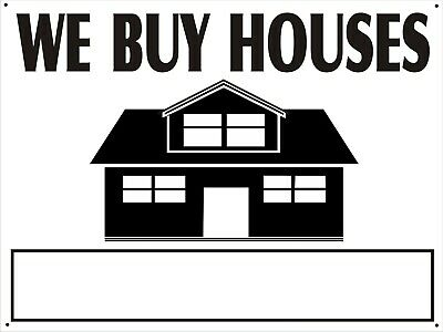 We Buy Houses 24 X 18 Coroplast Two Sided Sign Wi Stand W Pre-drilled Holes