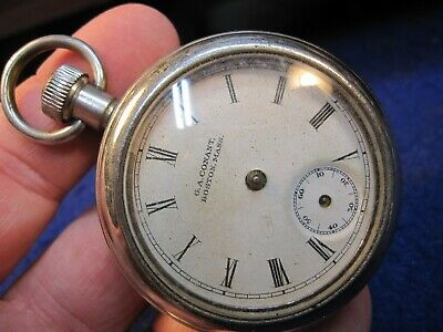 large Ingersoll back wind and set early dollar watch pocket watch