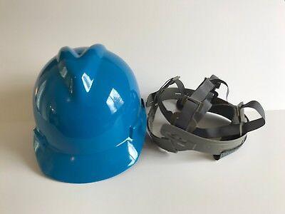 Msa 463943 Blue V-gard Slotted Hard Hat Protective Cap Staz-on Suspension