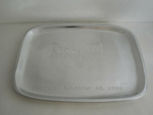 1998 Disneyland Innoventions Grand Opening Dedication Metal Platter Disney