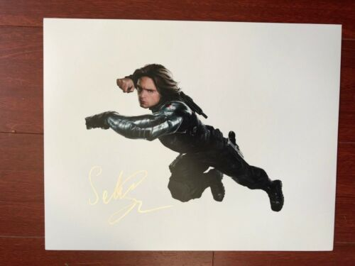 Avengers Captain America Sebastian Stan Autographed Signed 11x14 Photo COA #1