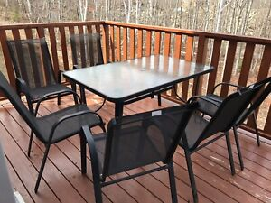 7 piece outdoor dining set with big table