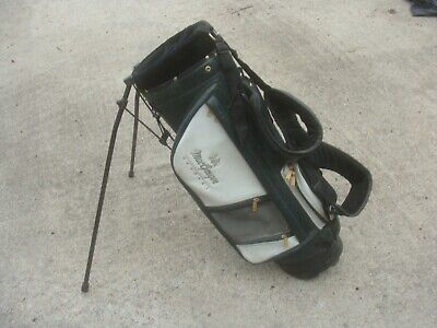 MacGregor Tourney Buffalo-Vinyl Staff Stand Carry Golf Bag - Green & White