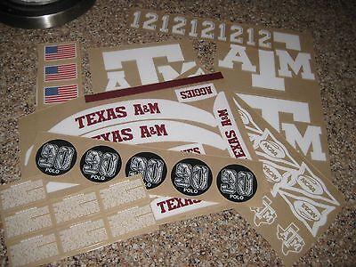 Texas A&M Aggies  20 mil 3M vinyl full size football helmet decals