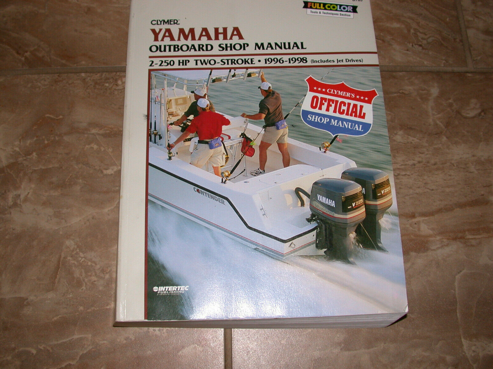 1996-1998 YAMAHA OUTBOARD SHOP MANUAL BY CLYMER 2-250 HP