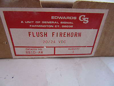 Edwards 881d-aw Red Flush Fire Alarm Horn 2024vdc New In Box Free Shipping