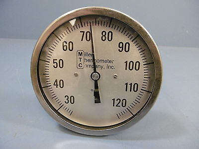 Miller Company Inc 1848-251 0-125 F Thermometer 9 Lg Stem 5 Dial