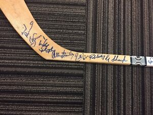 TORONTO MAPLE LEAFS VINTAGE SIGNED STICK