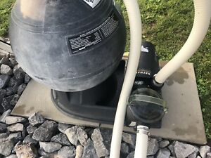 Pool pump and sand filter $150