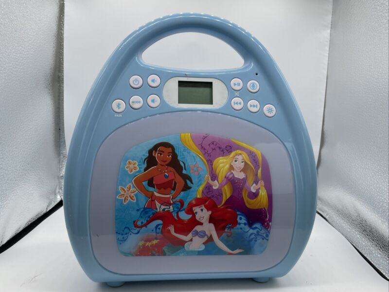 Disney Princess Bluetooth Portable MP3 Karaoke Machine Light Show No Microphone