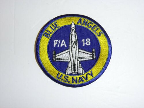 b3414 US Navy Blue Angels Demonstration Squadron patch F/A 18 Hornet blue IR19D