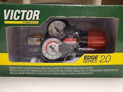 Victor Medium Duty Edge 2.0 Series Ess32 Acetylene Regulator 0781-3628  - New