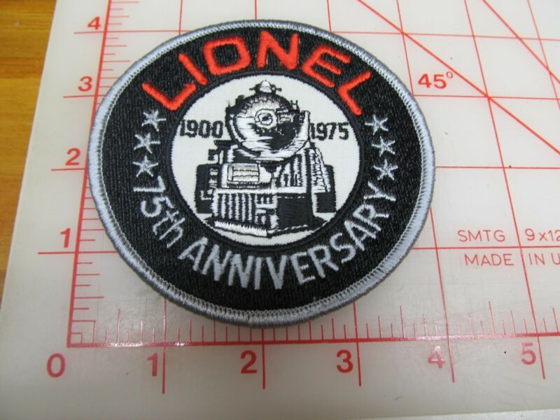 Lionel Trains 1900 - 1975 75th Anniversary collectible patch (g46)