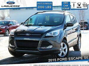 2015 Ford Escape SE **CAM*SONAR*AWD*SIÈGES CHAUFFANTS**