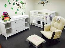 Baby direct deluxe cot, change table and deluxe glider chair Richmond Yarra Area Preview
