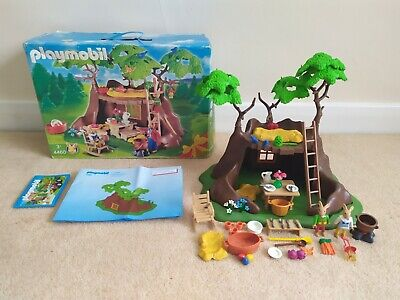 Playmobil 4460 Easter Bunny Tree House Box with Instructions Rabbit