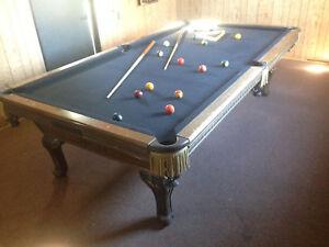 Antique pool table ebay antique vintage murrey pool table 3 piece italian slate billiards billiard greentooth Image collections