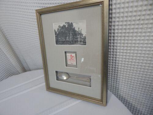 "Vintage! 15""x11"" Red Lion Inn Stockbridge Mass.Teaspoon & Matchbook/Postcard"