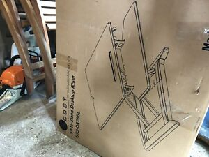 """28"""" Sit to Stand Desk Riser/Monitor Stand with Gas Spring"""