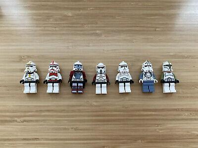 Lego Star Wars Minifigures Clone Lot X7: Episode 2, 3, & Clone Wars