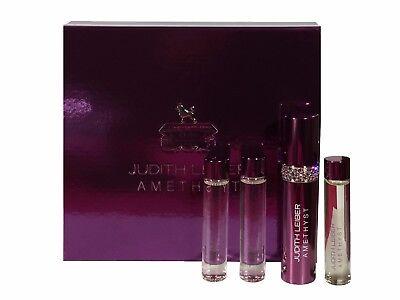 Judith Leiber Amethyst Eau De Parfum Coffret Purse Spray with 3 x 10ml Refills