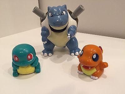 Vintage Pokemon Toys Charmander Squirtle Pullback TOMY CGTSJ & Blastoise Hasbro