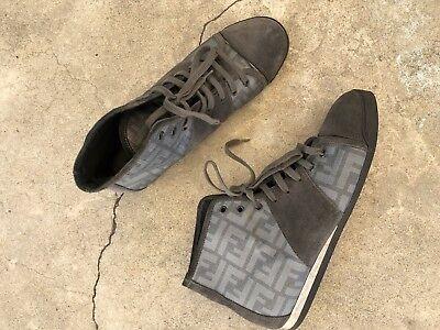 Fendi Monogram High Top Lace Sneaker 10