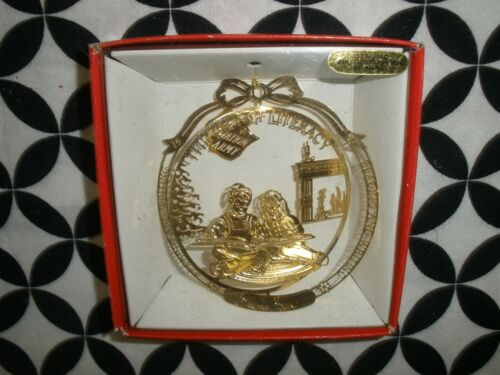 NIB  SALVATION ARMY CHRISTMAS ORNAMENT 1997 24K GOLD FINISHED BRASS ~T1297