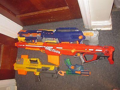 Lot Of 4 Nerf Guns Centurion Mega Blaster Cs 6 Longstrike