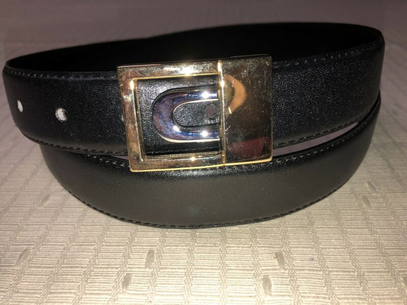 Mens Money Belt Leather Belt Size 36 - 38 Black W/ Inside Zipper Pocket