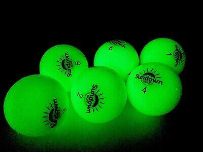 Glow In The Dark Golfballs (Sundown Golf glow in the dark Golf balls - 6 Pack with 2 UV flashlights.   )