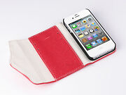 iPhone 4 White Leather Case