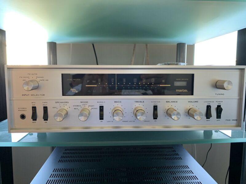 Martel Fax 800 vintage receiver, Partially Recapped And Serviced (Rotel). Rare.