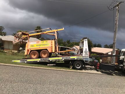 transport tilt tray towing service machinery  anywhere in WA