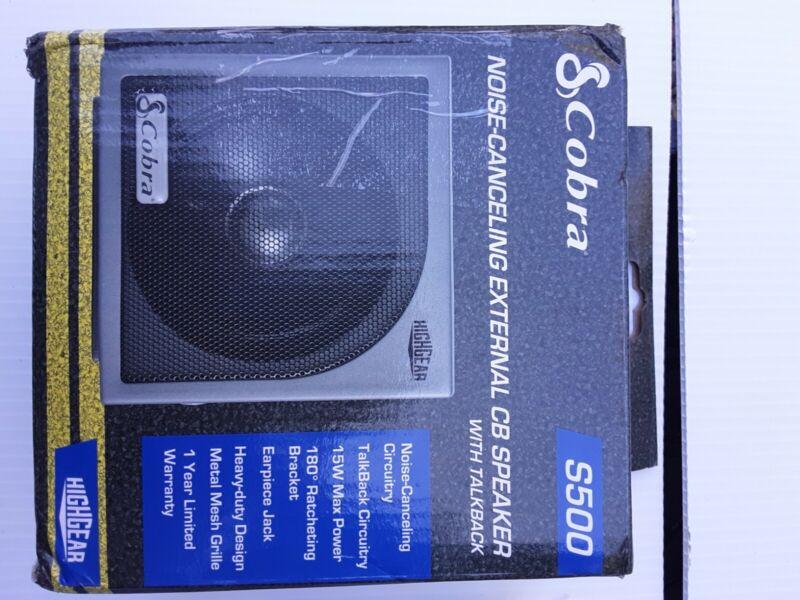 Cobra HG-S500 External CB Radio Speaker new in pkg. Free shipping