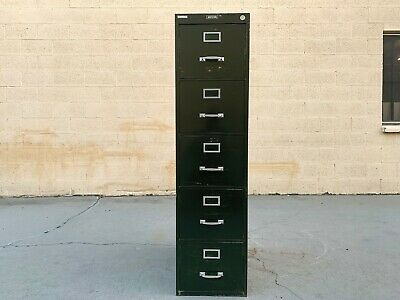 1940s File Cabinet By Steel Furniture Co. 5 Drawer Tall