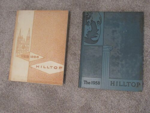 1956 and 1958 Hilltop Marquette University Yearbooks